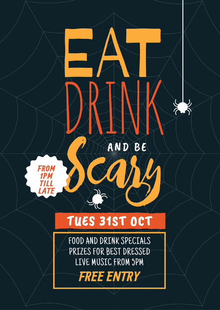 eat drink and be scary halloween party template easil