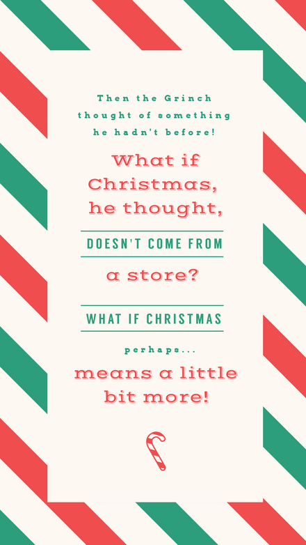 Christmas Graphic with Red & Green Stripes