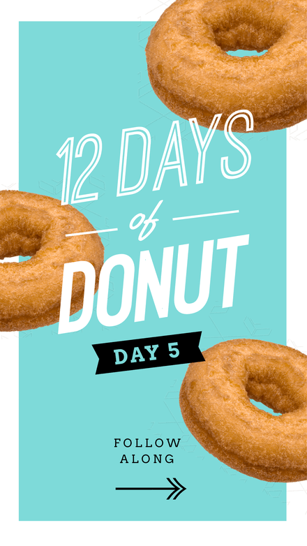 12 Days of Donuts Instagram Story (Multiple Page Template)