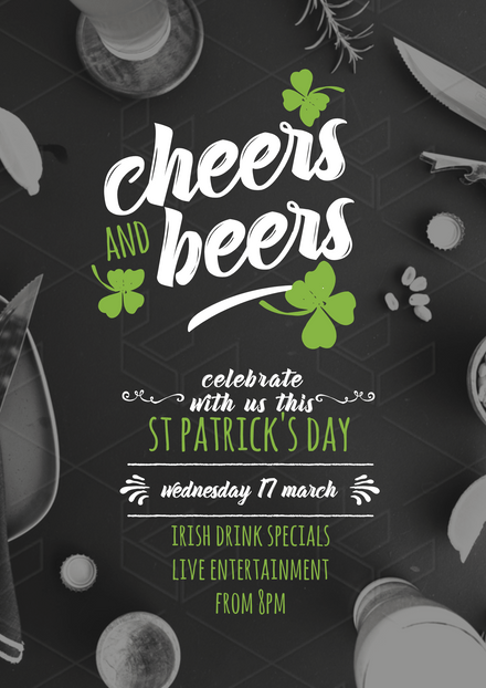 Cheers & Beers St Patrick's Day Promotion Template