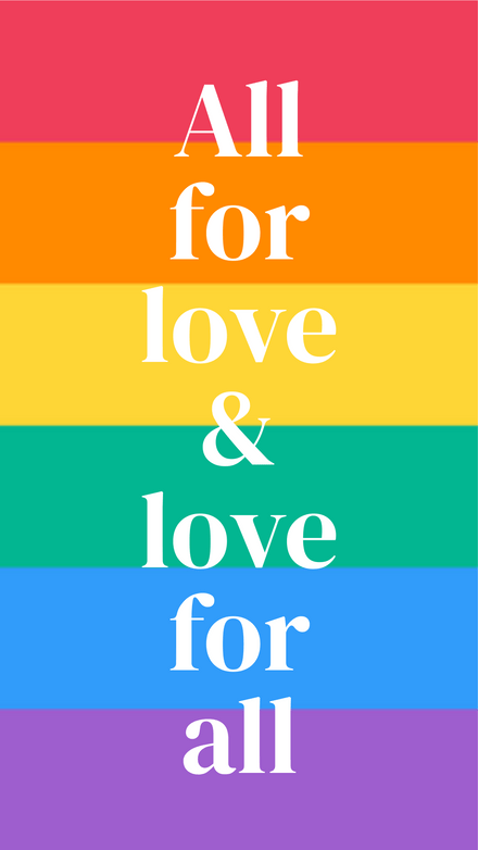 All for Love & Love for all Rainbow Template