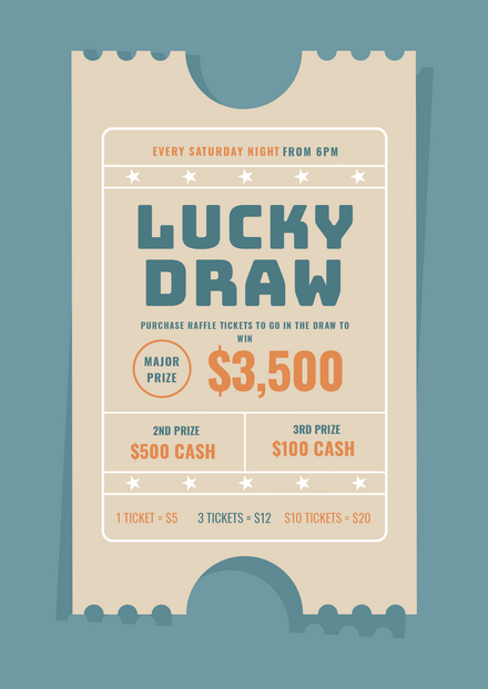Weekly Raffle - Lucky Draw Ticket Template