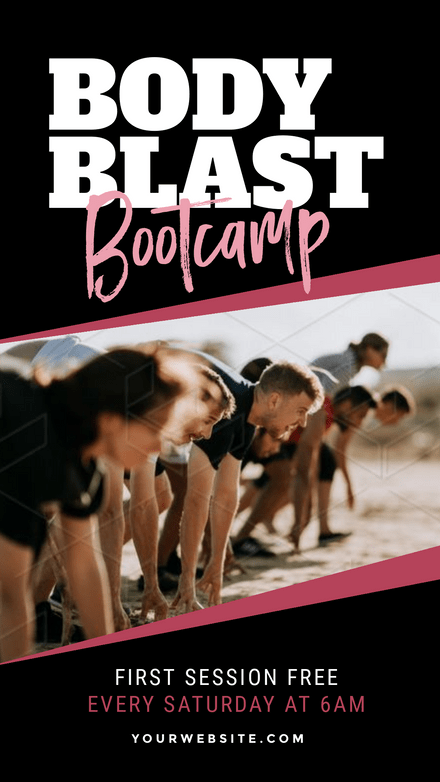 Body Blast Bootcamp - Graphic Template