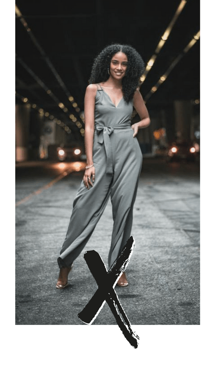 Model with Street Background X Template