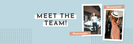 Meet the team with photo placeholder template