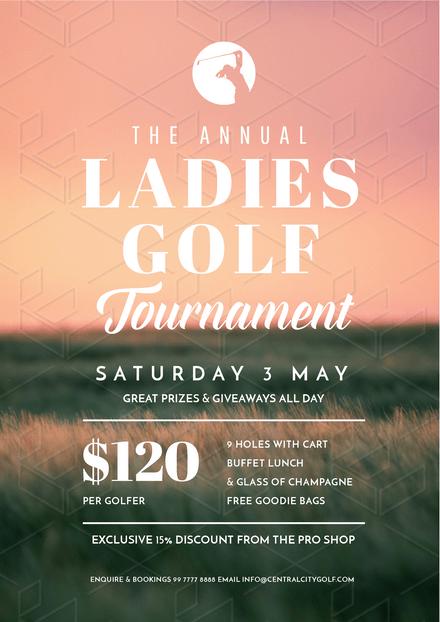 Ladies Golf Tournament Template