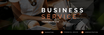 Business Services Template with Diamond Overlay