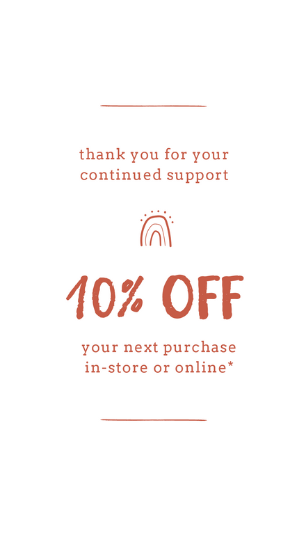 10% Off Next Visit Graphic Template