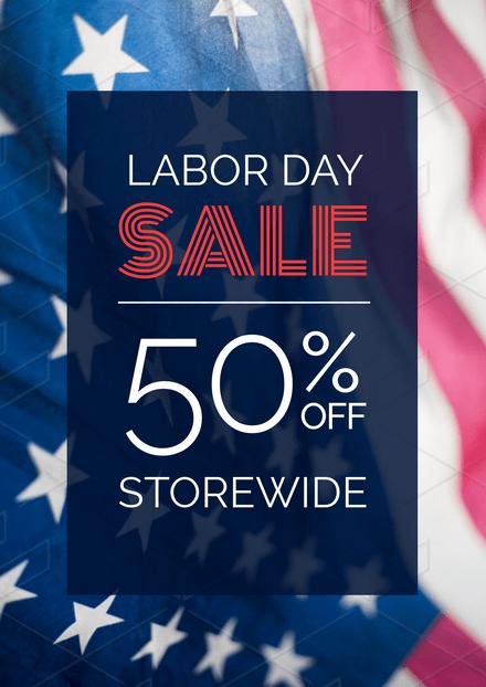 Labor Day Sale USA Flag