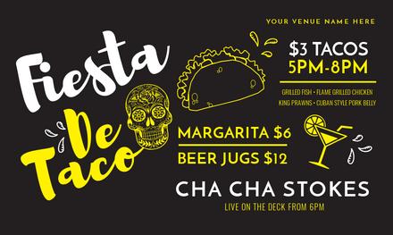 fiesta de taco template with sugar skull