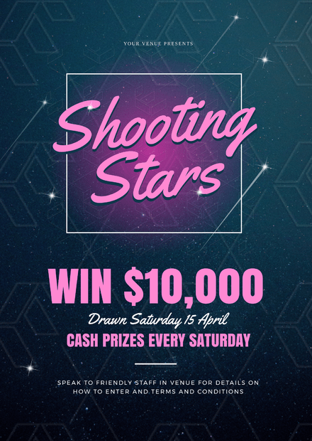 Shooting Stars Win Cash Competition Template - Easil
