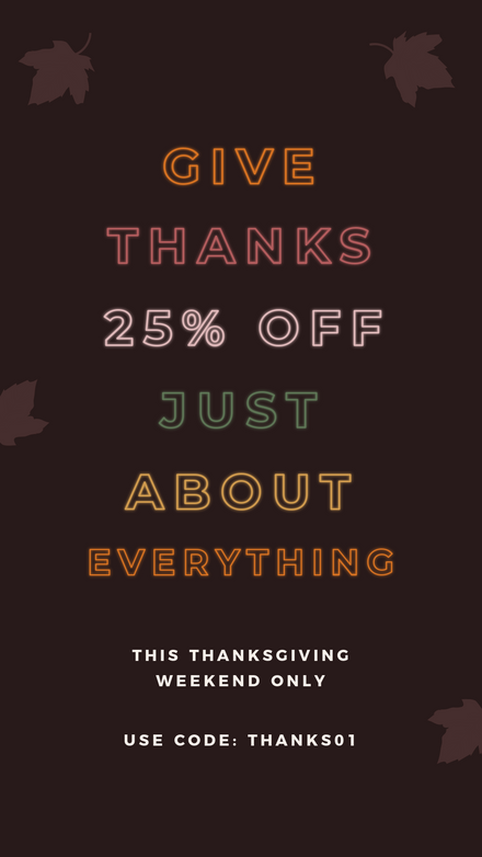 Thanksgiving Give Thanks Sale Neon