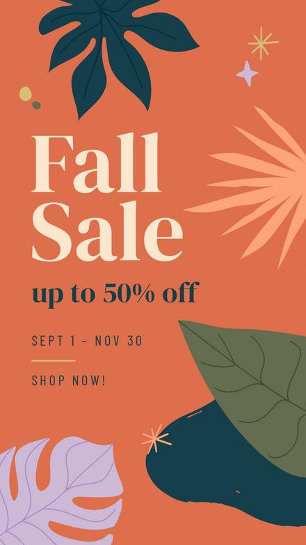 Fall Sale: Earthy Leaf Blobs