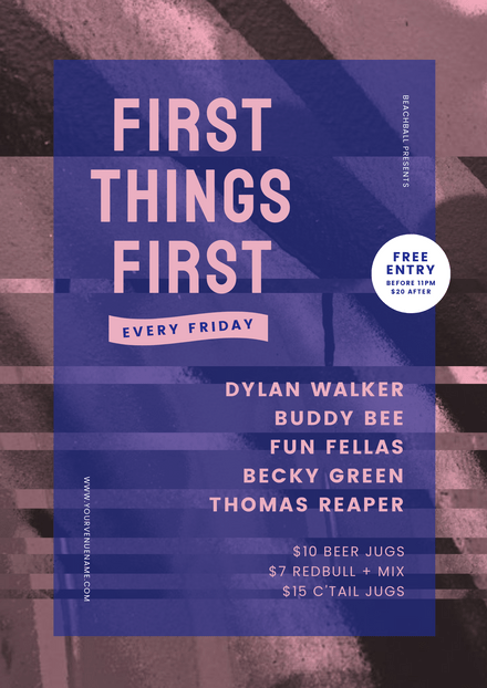 First Things First Event Promotion Template