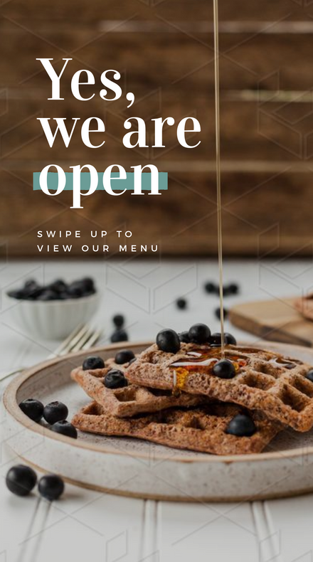 Yes, We are Open Cafe Graphic Template
