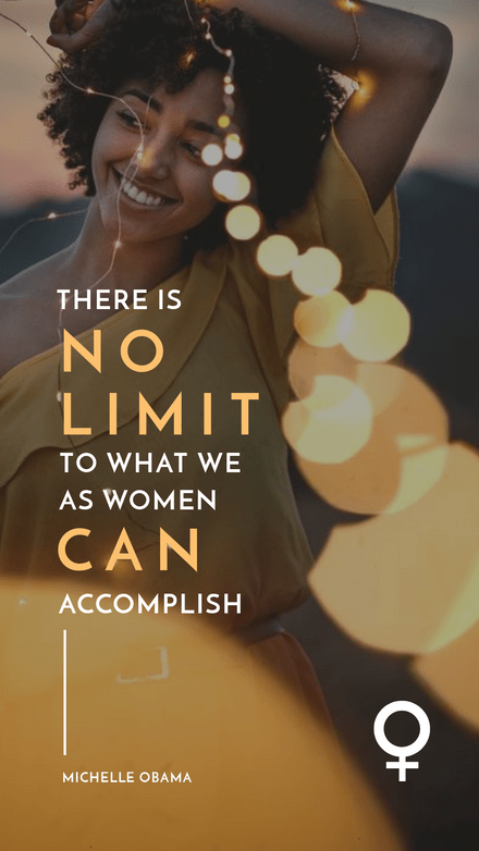 No Limit to what women can accomplish Quote Graphic