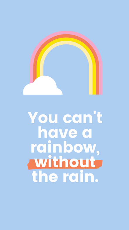 Simple Rainbow Illustrated Quote Graphic Template