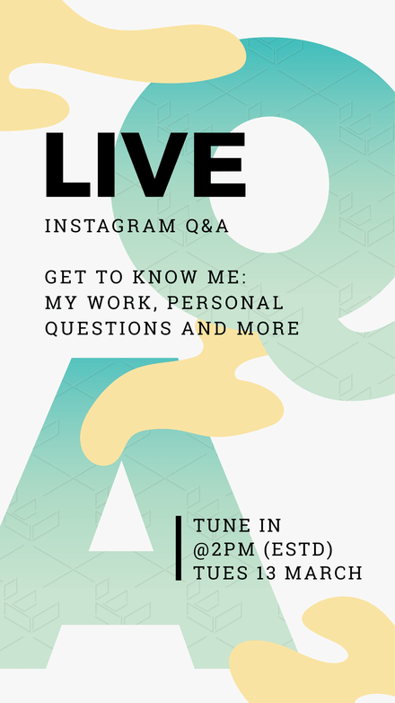 Live Q&A Instagram Story Template