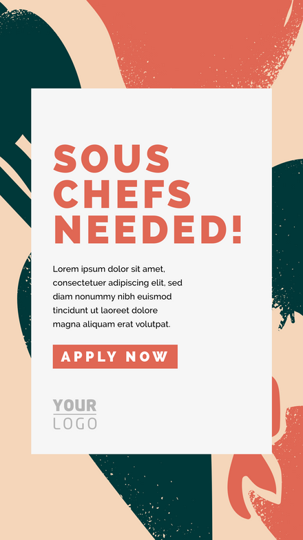 Chef Wanted Painted Elements Template