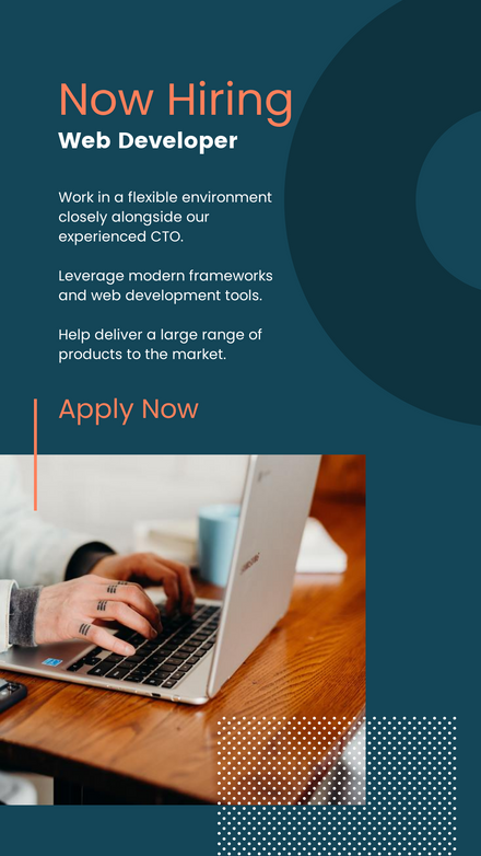 Blue & Orange - Corporate Style Recruitment Ad