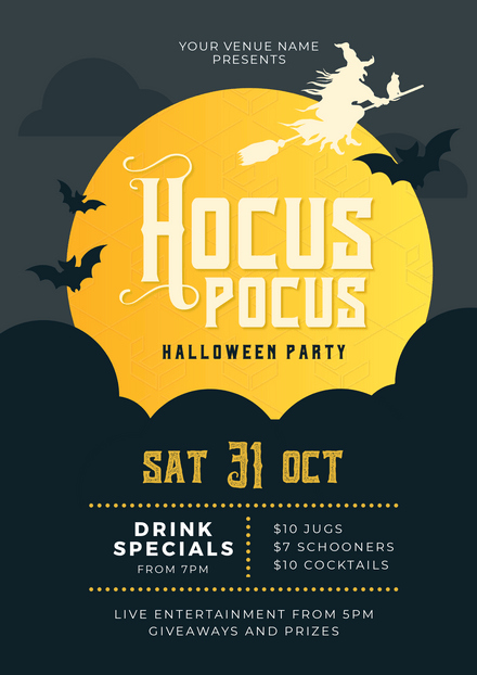 Hocus Pocus with Witch Halloween Event Template