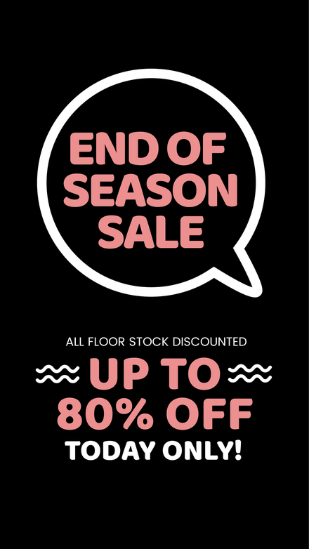 End of Season Retail Sale Flyer Template
