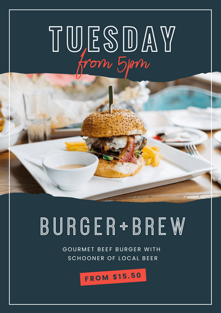 Weekly Specials - Burger & Brew Template