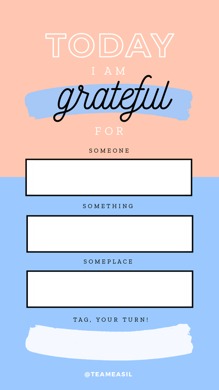 Grateful Challenge: Blush & Blue