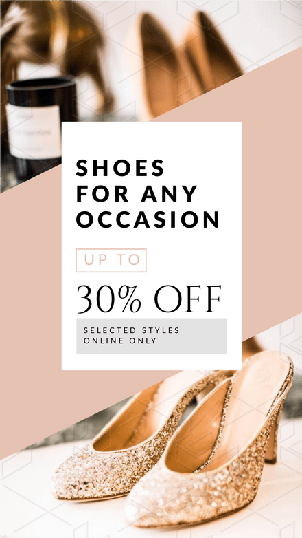 Shoes for any occasion - Angled Image template