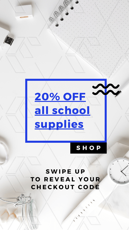 20% Off School Supplies