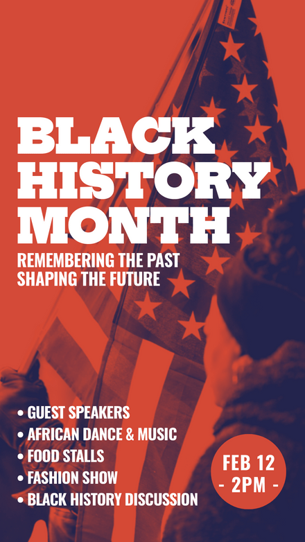 Black History Month, USA Flag Graphic Template