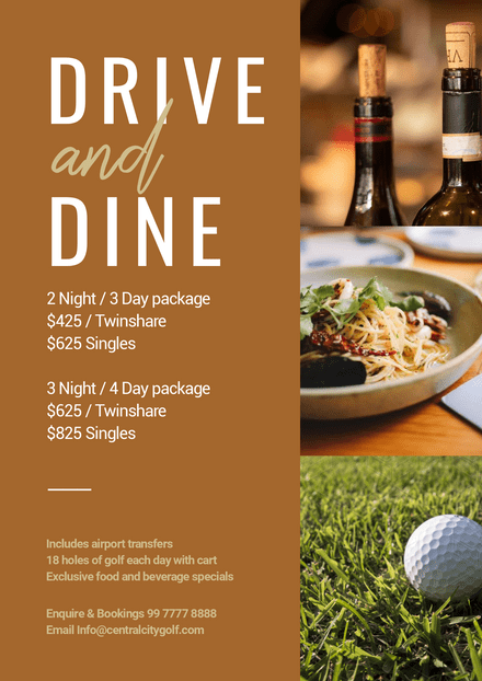 Drive and Dine Golf Template