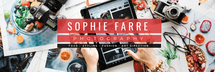 Text Overlay Photographer Header Image