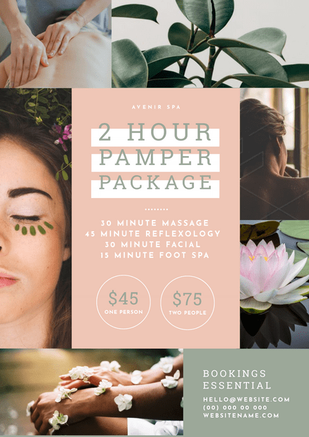 Pamper Package Beauty Salon Template