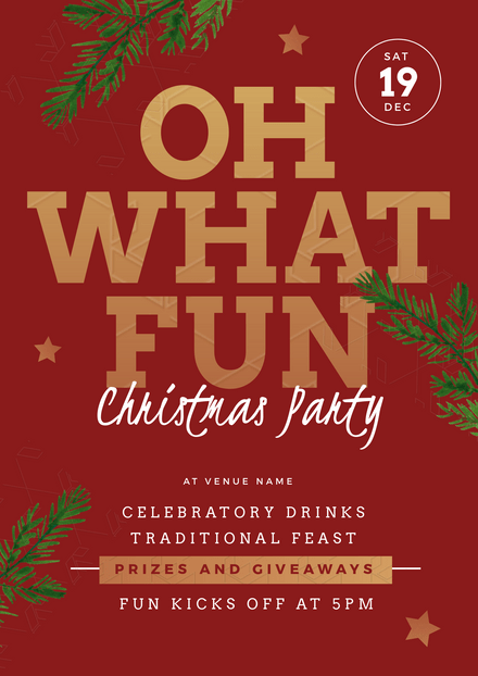 Oh What Fun Christmas Party Event Template