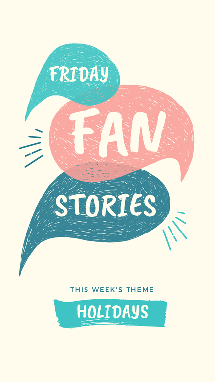 Friday Fan Stories Instagram Stories Cover with illustrated speech bubbles