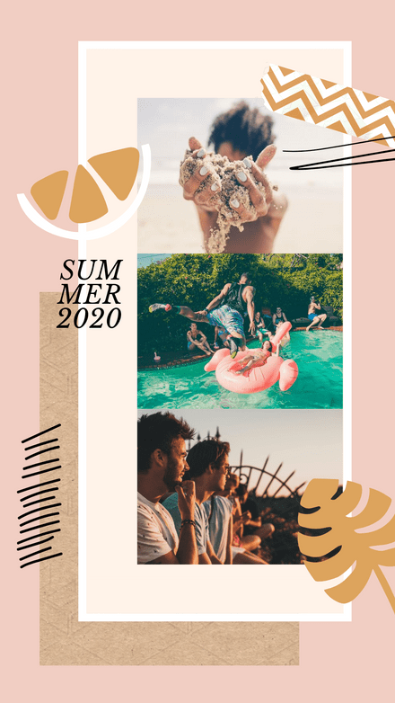 Collage: Summer Photos Illustrations