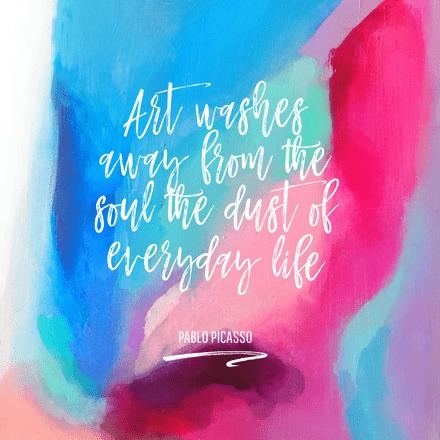 Pablo Picasso Art Quote