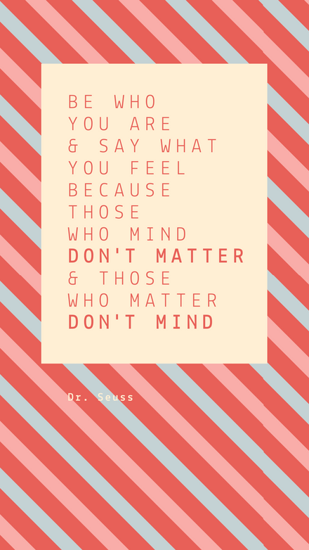 Dr Suess Striped Quote
