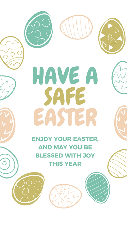 Happy Safe Easter Message Template