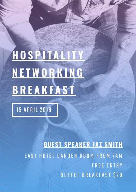 Hospitality Networking Breakfast Template