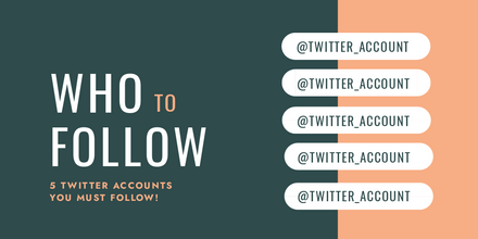 Who to Follow Twitter Accounts Graphic