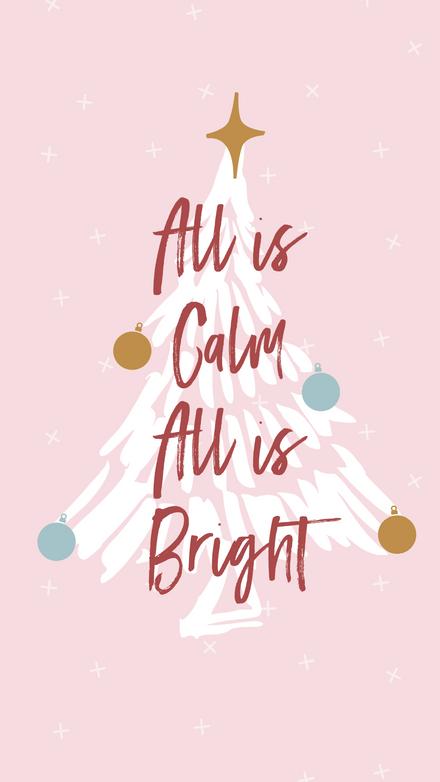 Pastel Christmas Tree Template