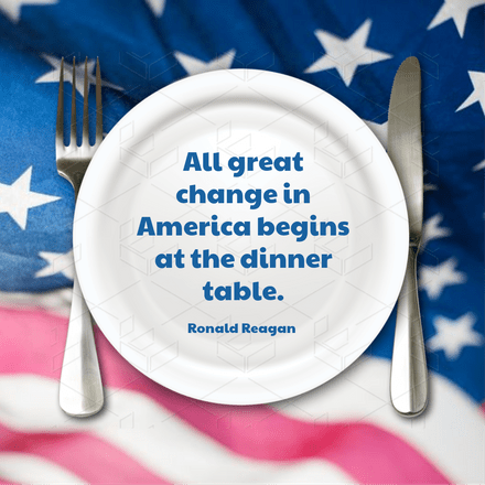 Ronald Reagan Dinner table quote