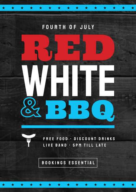 Red, white and BBQ Fourth of July