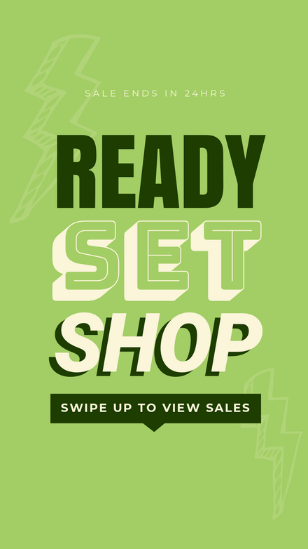 Ready Set Shop, Retail Sale Template