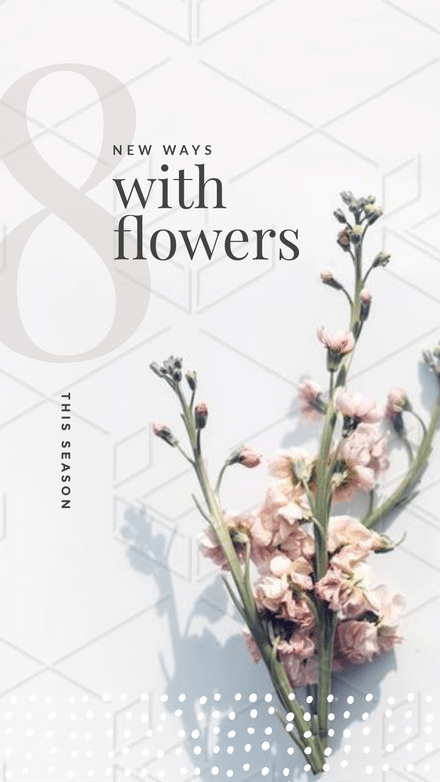 8 New Ways with Flowers Template