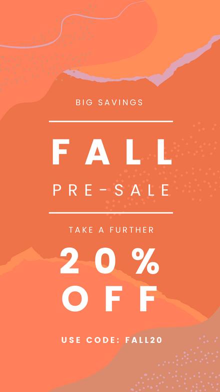 Fall Pre Sale Orange Template