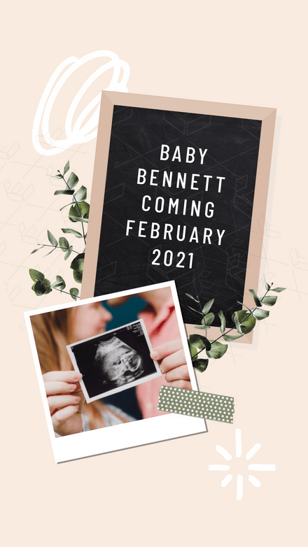 Collage: Baby Announcement Frame Board