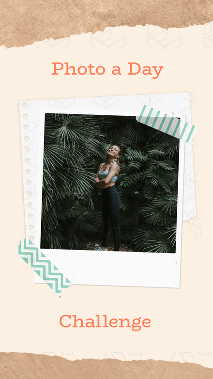 Photo a Day Challenge Polaroid Collage Template